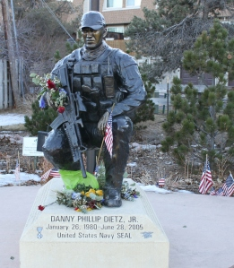 The monument to Danny Dietz in Berry Park Littleton, CO.