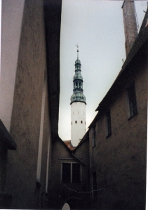 Street Scene in Tallinn, Estonia